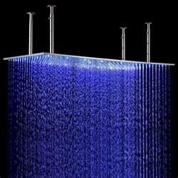 luxury 20 40 large brushed led shower