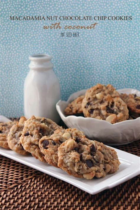 Almondtree Chocolate Cookies macadamia nut chocolate chip cookies with coconut pint sized baker