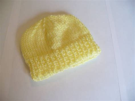 knit baby hat pattern free easy