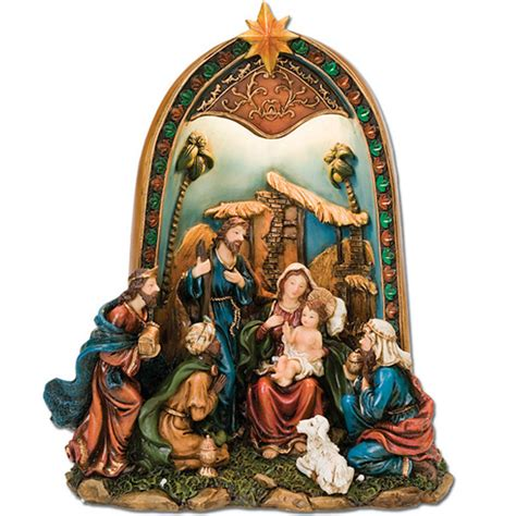 nativity rubber st lighted nativity 11 1 2in n 1967 jewelers