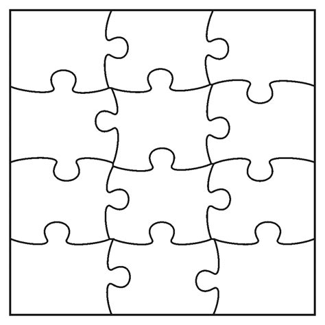 pics for gt 9 piece jigsaw puzzle template