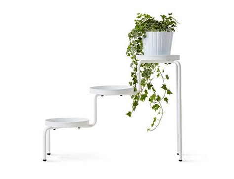 ikea ps 2014 plant stand indoor outdoor white white furniture finds add some greenery your home with these 10