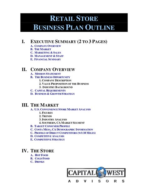 retail store business plan template music search engine