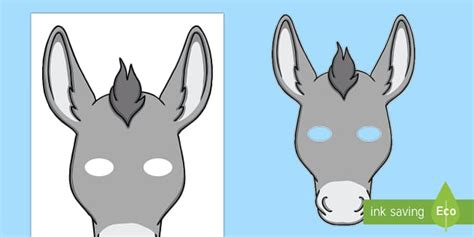 printable animal masks donkey donkey mask template donkey role play mask nativity