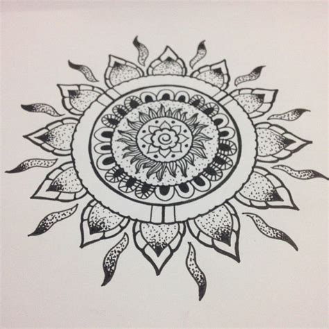 tattoo mandala sun mandala tattoo sun drawing on instagram