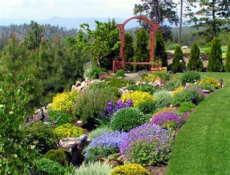 landscape ideas for hilly backyards awesome backyard hill landscaping ideas garden on budget
