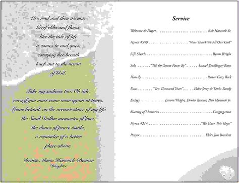 13 funeral service program templateagenda template sle