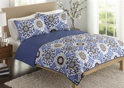 Better Home And Garden Quilts by Better Homes And Gardens Suzani Bedding Quilt Blue