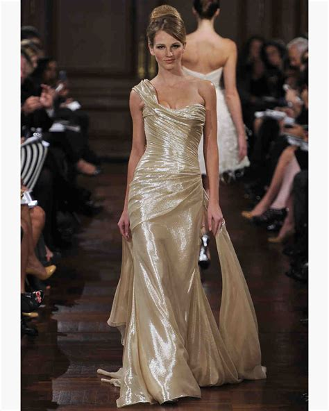 gold wedding dresses fall 2012 bridal fashion week