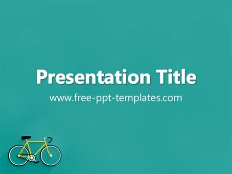 Bicycle Ppt Template Bicycle Ppt Templates Free