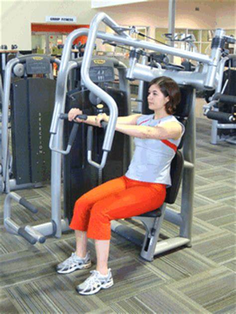 seated bench press machine how to use the seated chest press machine sparkpeople