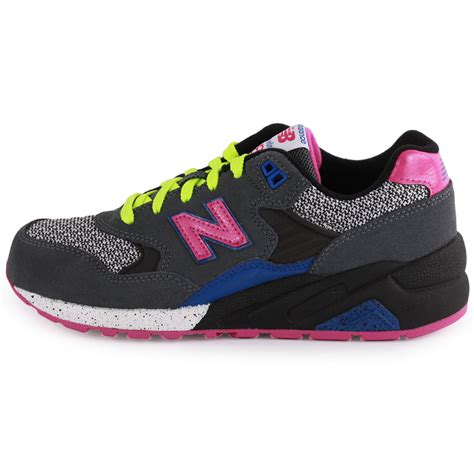 new balance elite 580 womens suede grey pink trainers new