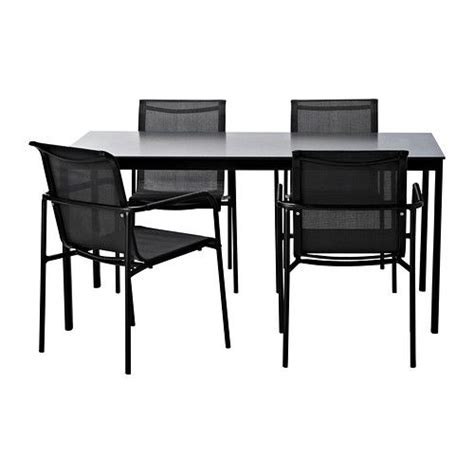 garpen table and 4 armchairs ikea patio furniture