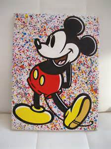 mickey mouse painting jdtoonart and comic pop paintings mickey mouse