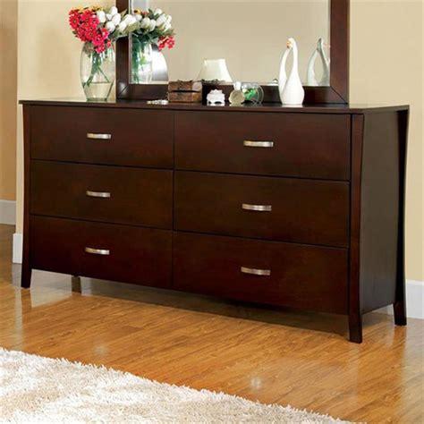 shop furniture of america midland brown cherry 6 drawer