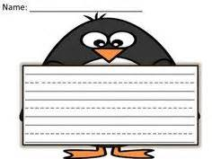 penguin writing paper writing paper st s day writing paper and