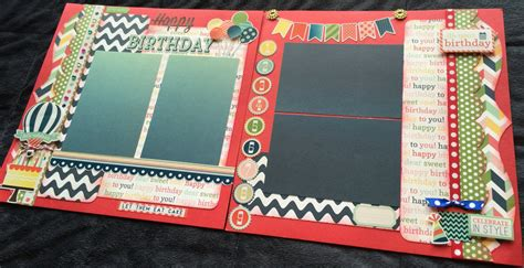 12x12 scrapbook layout kits birthday themed scrapbook page kit 12x12 scrapbook layout