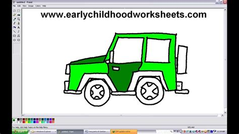 cartoon jeep drawings how to draw a jeep car easy step by step youtube