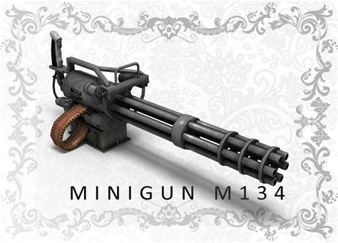 Kaos 3d Gafting Gun 3d character gatling gun