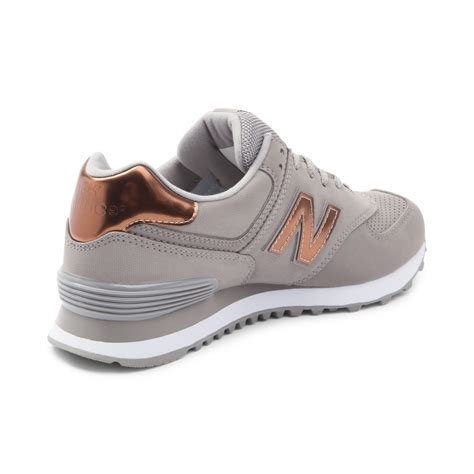grey athletic shoes womens new balance 574 athletic shoe gray 401551