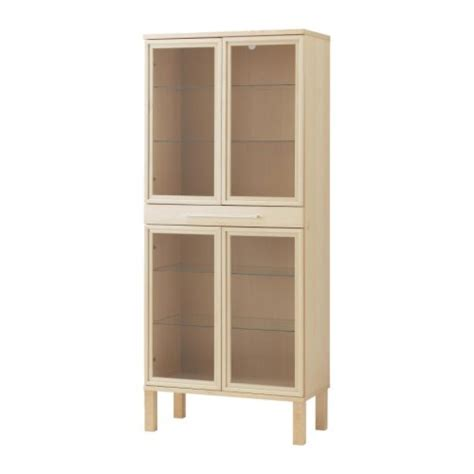Storage Cabinet With Glass Doors Ikea Bjursta Glass Door Cabinet Reviews Productreview Au