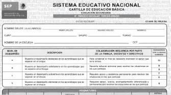 boleta de evaluacion 2015 2016 cartillas de evaluacion 2015 2016 secundaria general