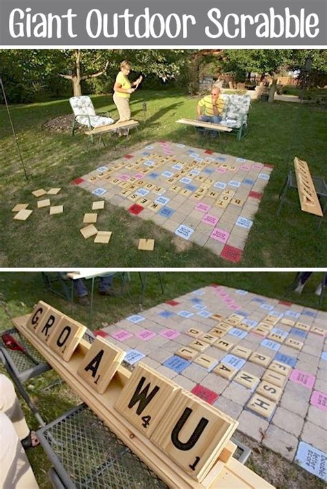homemade backyard games backyard games best diy and scrabble on pinterest