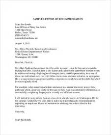 Letter Recommendation Retired Letter Exles