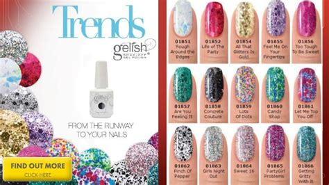 gelish color swatches gelish color swatches