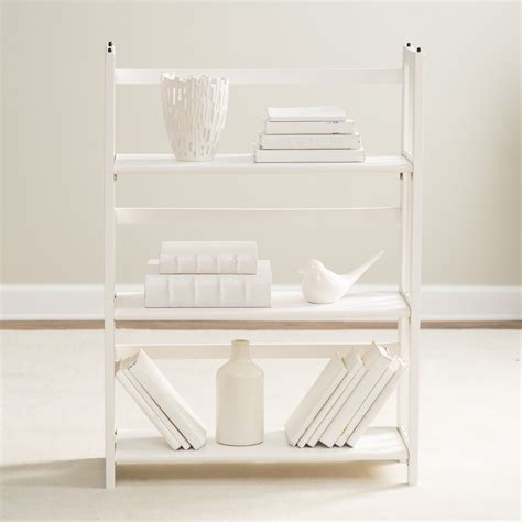 Yu Shan Folding Bookcase 3 Tier Stackable Folding Bookcase Natural Ebay