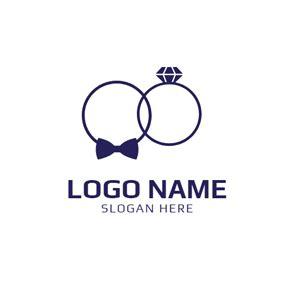 Wedding Rings Logo by Free Wedding Logo Designs Designevo Logo Maker