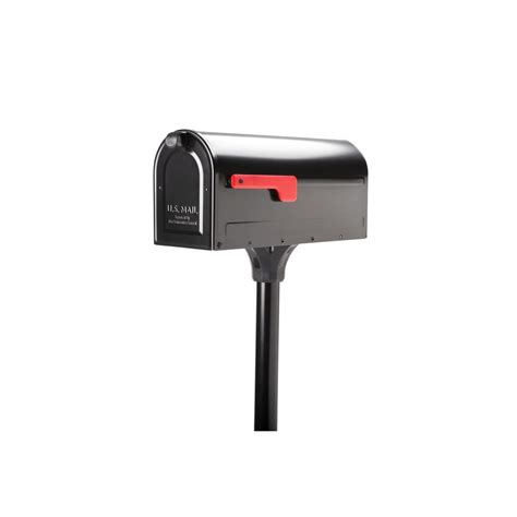 Architectural Mailboxes MB1 Post Mount Mailbox and In Ground Post Kit, Black 7680B 10   The Home