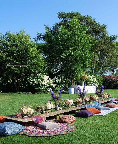 backyard picnic 33 bold boho chic bridal shower ideas weddingomania