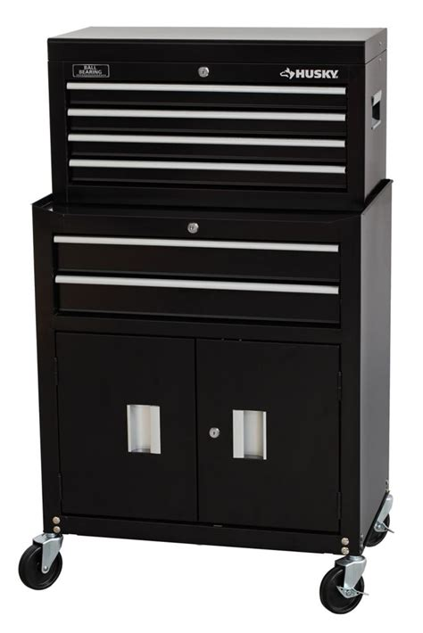 husky husky 26 inch w 6 drawer chest cabinet combo the