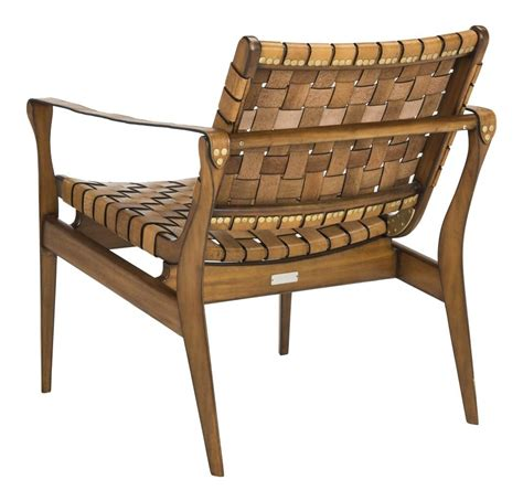 woven leather safari chair tan eclectic goods eclectic goods