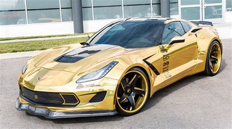 Gold Wrapped Corvette Stingray Gm Authority