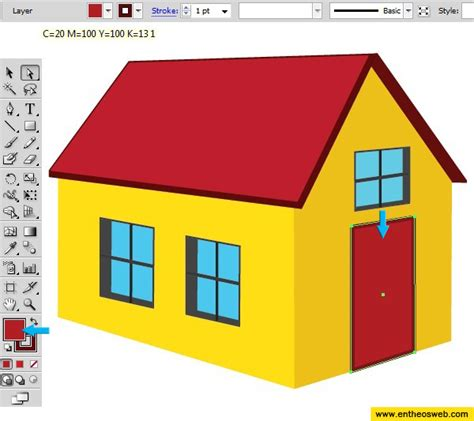 how to draw a 3d house learn how to create a 3d house vector in illustrator entheos