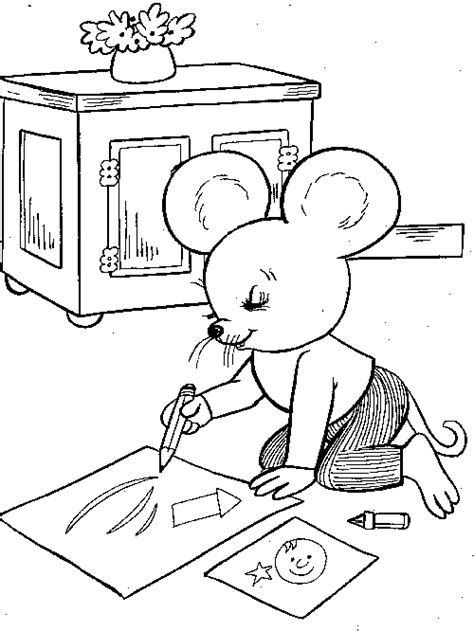 mouse family coloring page mouse coloring familycorner com 174
