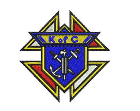 embroidery design knights of columbus masonic compass symbol pattern in 4 sizes by
