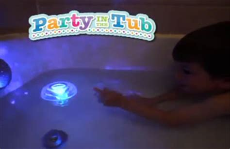 bathtub party light party in the tub turns kids bath time into a swinging disco infomercial hell