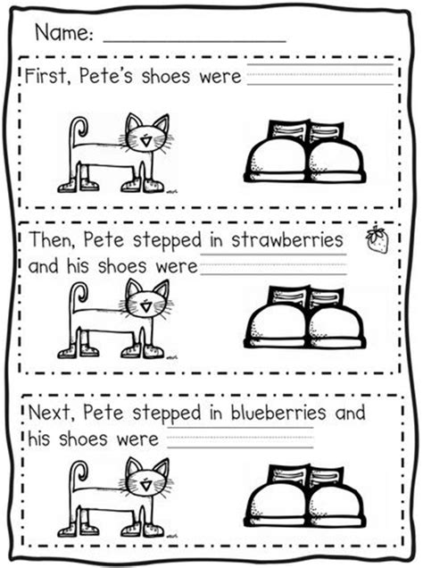 picture books to teach sequencing 73 cool pete the cat freebies and teaching resources