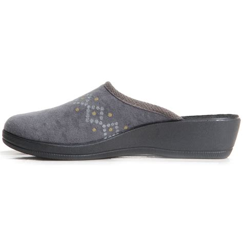 warm house shoes womens ladies slip on low wedge slippers sparkling diamond warm house shoes ebay