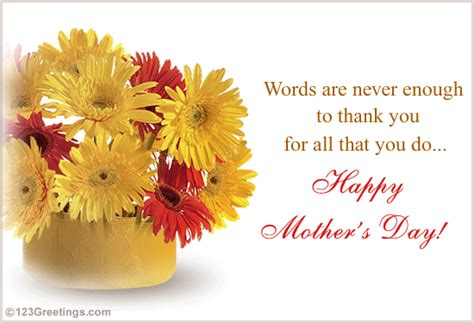 mothers day card messages words are never enough to thank you free special moms