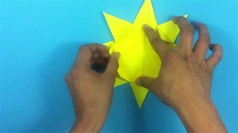 como hacer un sol de unicel hacer un sol de origami actividades infantiles youtube