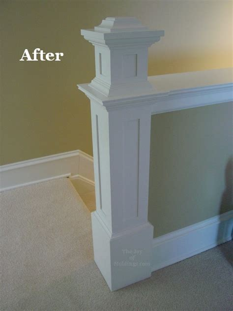 How To Decorate Fireplace Mantel Before Amp After Newel Post On A Half Wall The Joy Of