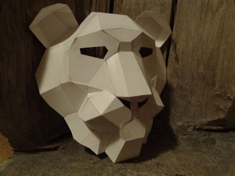 cardboard mask template make your own mask from recycled paper pdf pattern pdf