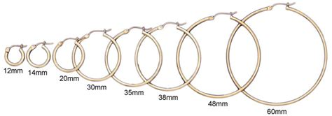 12mm actual size new 2mm 14k yellow gold hoop earrings your