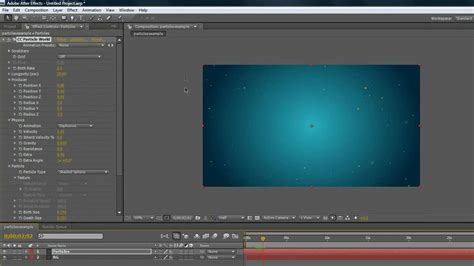 tutorial after effect basic after effects basic particles tutorial youtube