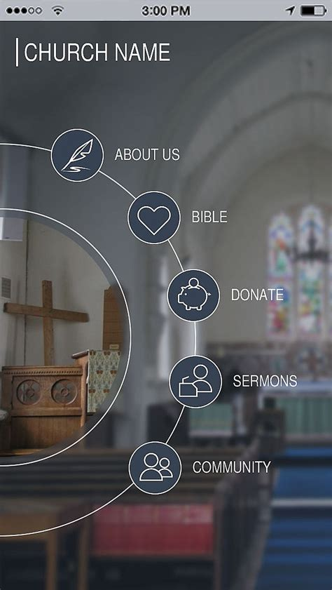 Use Church Template To Make Your Free Mobile App Church Mobile App Template