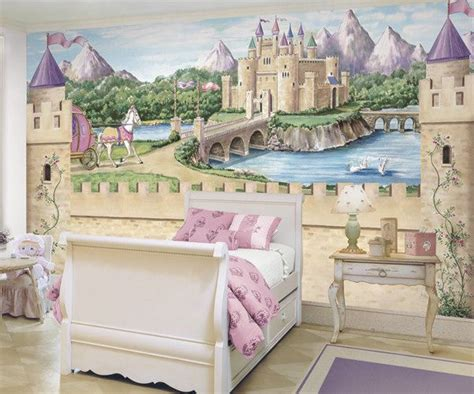 details about princess castle wallpaper mural w carriage disney princess castle